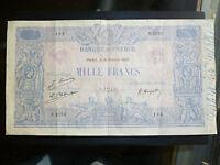 France Lot P-67j 1925 1000 Francs F-VF Add Collection