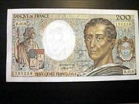 France Lot P-155 1983 1992 200 Francs AU-UNC Add Collection