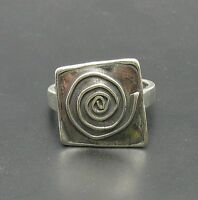 STERLING SILVER RING SPIRAL SOLID 925 SIZE A - Z HANDMADE NEW