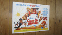 Carry on Abroad Sid James Repro POSTER