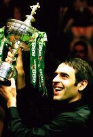 ROCKET RONNIE O'SULLIVAN 3 Times World Champion SIGNED Snooker Photo AFTAL COA