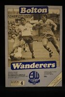 PROGRAMME - D3 - Bolton Wanderers vs Plymouth Argyle - 6 May 1985
