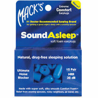 Mack's Sound Asleep Earplugs Soft Foam Ear Plugs for Sleeping (12 Pairs)