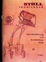 Stoll Frontlader Bj. 1970 Anleitung und Ersatzteilliste