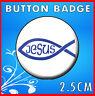 Christian Badge - Religious Message - Christian Fish - 25mm #2