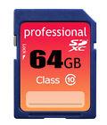 New 64GB Class 10 SDXC/SDHC(HC SD) Professional Flash Memory Card 64 GB G 64G