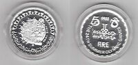 EGYPT - SILVER PROOF 5 POUNDS COIN 1988 YEAR KM#624 SEOUL OLYMPIC GAMES