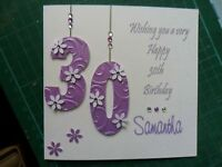 Personalised Handmade Birthday Card  18th 21st 30th 40th 50th etc...