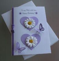 Handmade Boxed Birthday Card Wife/Partner/Girlfriend A5