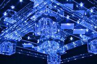 Plafonnier à LED Lampe à suspension Lustre moderne Lampe de salon chromée 35663