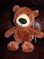 "Russ Berrie and Company Rascal the Brown Teddy Bear Plush Beanie Doll 11"""