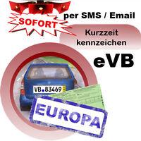 Kurzzeitkennzeichen Versicherung 3 Tage PKW für Ausland Kurzkennzeichen sofort