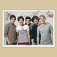 ONE DIRECTION (1) Signed Autograph Photo Print (A4) 210 x 297mm