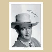 JOHN WAYNE (13) Signed Autograph Photo Print (A4) 210 x 297mm