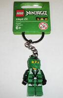 NEW LEGO NINJAGO KEY CHAIN - LLOYD ZX GREEN NINJA MINIFIG minifigure figure 9450