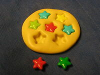 Candy Stars Push Mold Flexible Resin Clay Candy Food Safe Silicone #231 Cup Cake