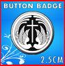 Christian Badge - Religious Message - Cross Doves 25mm