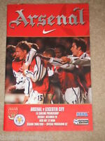 PROGRAMME - PREM - ARSENAL V LEICESTER CITY - DECEMBER 26 2000