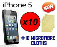 10x HQ CLEAR SCREEN PROTECTOR COVER LCD GUARD FOR NEW APPLE IPHONE 5 iPhone 5 5G