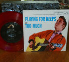 """* * ELVIS #1 """"TOO MUCH/PLAYING"""" RARE UNPLAYED MINT GEM RED VINYL 45/PIC SLEEVE!!"""