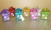 8cm Beautiful Glitter Gift Box Hanging Christmas Decoration /Tree Trim