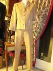 tailleur 1 2 3 beige veste pantalon SOIREE suit pant Cérémonie 40