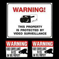 LOT OF HOME SECURITY CAMERA SYSTEM ALARM WARNING YARD SHED SIGN+WINDOW STICKERS