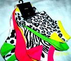 6 Pack Rampage Ladies Socks Sport~LOW CUT~ANIMAL PRINT~COLORFUL~NEW~ZEBRA~