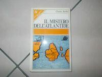 IL mistero dell'atlantide Charles Berlitz 1976 Narrativa Saggistica