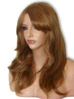 Light Brown Auburn Wig Fashion Long Flick with fringe ginger Ladies Hair Wig K10