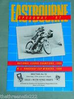 SPEEDWAY PROGRAMME - EASTBOURNE V MILTON KEYNES - JUNE 27 1986