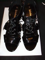 KALEIDOSCOPE,  BLACK PATENT LACE , SHOE , SIZE UK 4 /EU  37