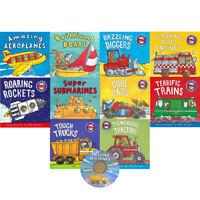 Amazing Machines Truckload Children Collection 10 Flat Books Set | Tony Mitton