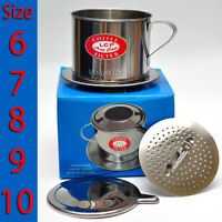 Vietnamese Coffee Filter Press Maker - All Size: 6-7-8-9-10- Stainless Steel G1