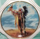 ~ Vintage ~ Signed American Indian 1991 Franklin Mint Plate ~ Collectable ~