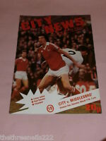 FOOTIE PROGRAMME - D1 - MANCHESTER CITY V MIDDLESBRO - MARCH 17 1978