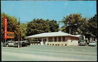 NASHVILLE TN Vaughan's Restaurant & Motel Vtg 1950's Cars Old Postcard Tennessee