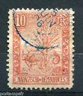 MADAGASCAR 1903, timbre 67, ANIMAUX SAUVAGES ZEBU et ARBRE du VOYAGEUR, oblitéré