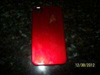 Apple Iphone 4s/4 Star Trek Maroon/Red Hard Plastic Skin Case Cover