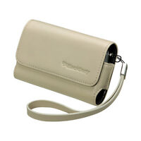 OEM White Leather Folio Case Pouch Cover with strap BlackBerry TORCH 9800 9810