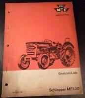 Massey Ferguson Schlepper MF 130 Ersatzteilkatalog
