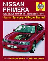 Haynes 1851 Nissan Primera 1990-1999 H-T Service &  Repair Manual  H1851