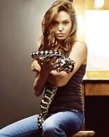 ANGELINA JOLIE PHOTO sexy snake photograph picture