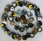 Nightmare Before Christmas Badge Badges Pin 40pcs Mixed Lot F1 Dia 3cm Rare