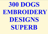 300 DOGS EMBROIDERY DESIGNS PES HUS JEF ETC FANTASTIC