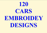 120 FANTASTIC CAR EMBROIDERY DESIGNS PES HUS JEF THESE ARE TERRIFIC