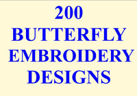200 BUTTERFLY EMBROIDERY DESIGNS PES JEF HUS A BEAUTIFUL COLLECTION