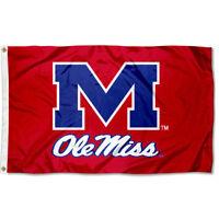 University of Mississippi Rebels Flag Ole Miss Large 3x5