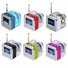 Portable Mini Speaker LCD HiFi Music MP3/4 Player Micro SD/TF USB Disk FM Radio