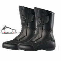 Nitro NB-11 Leather Motorbike Motorcycle Boots Waterproof Touring Boots Black